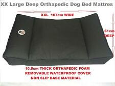 XX Large Orthopaedic Dog Bed/Mattress. 10cm Thick High Density Foam, Waterproof