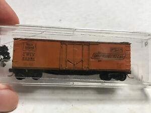N SCALE ATLAS 40' Boxcar Custom Painted (rough) Rock Island CRLX # 20591 MTL TKS