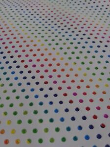 """Italian Top quality Cow hide leather Multi Color Dots 12"""" x 12"""" Inches. 2.5 oz"""