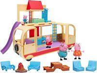 Peppa Pig Transforming Campervan 16 Piece Deluxe Toy Peppa's Playset & Figures