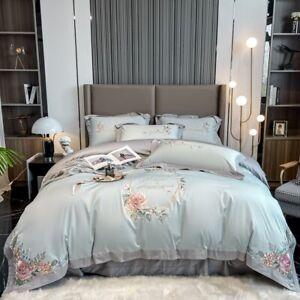 active printing 100S long staple pure cotton bedding set 4pcs duvet cover sheet