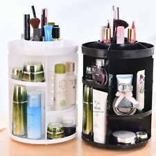 360-Degree Rotating Makeup Organizer Holder Jewelry Case Cosmetic Storage Box