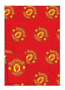 Manchester United Gift Wrap Pack 2 x Wrapping Paper Sheets & Gift Tags  FREE P&P
