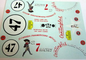 1/32 decals ONLY- JAGUAR MKVII- II Carrera Panamericana 51