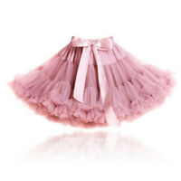 Girls Soft Tea Pink Dusky Full Fluffy Party Quality Pettiskirt Tutu Skirt UK