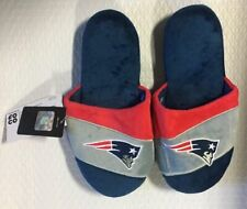 New England Patriots Youth Colorblock SLIDE SLIPPERS New - FREE SHIPPING