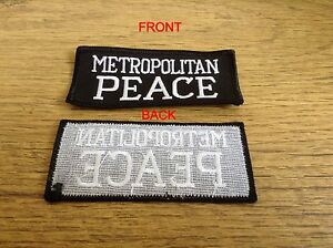 Metropolitan Peace Badge (sew on)