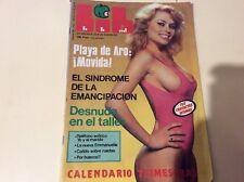 LIB Nº 70 GLORIA SANCHEZ, emmanuelle 5  Magazine  erotic  vitange Spanish