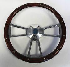 """Mercury Cougar Comet Cyclone Steering Wheel Real Wood and Billet 14"""""""
