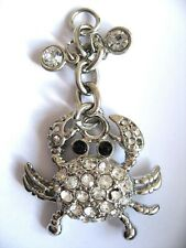 Crab Charm Pendant Crystal Rhinestone , or at least I hope these are not diamond