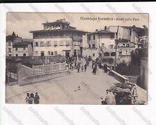 RM CARTOLINA MONTELUPO FIORENTINO PONTE SULLA PESCA 1926 VIAGGIATA