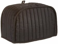 Toaster Cover 4 Slice Kitchen Quilted Fabric Black Color Cotton Decor Appliance