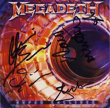 [1796] Megadeth Signed SUPER COLLIDER CD Cover AFTAL