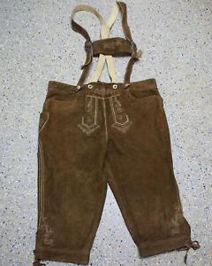 Stockerpoint Trachten Lederhose Größe 58 Wildbock Kniebund Jagdhose K890