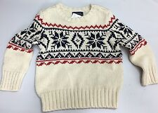 Ralph Lauren Polo Crew Neck Sweater Boys 2T Toddler Cotton Red White Blue New