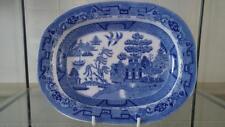 """Deliziosa PRESTO PICCOLO ANTICO """"Willow"""" Wood & challinor Piatto di Carne C 1840+"""