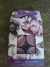 12 PK Scented Tea Lights Candles gift pack Fragrances jasmine & magnolia lilac