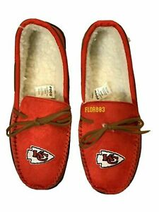 Kansas City Chiefs NFL Men's Colored Moccasin Hard Slippers