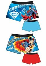 Mens Official 2 Pair Pack Character Superman Boxer Shorts Boxers