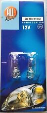 2 x 501 Bright White 801 Sans Capuchon voiture côté ampoule 12 V 5 W T10 Tail Light Wedge