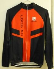 Black/Red LONG AO Cycling Jacket; Sz Small; Zipper Closure; 3 Back Pockets;SPORT