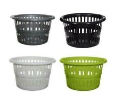 Whitefurze High Grade Plastic Circular Style Washing Linen Laundry Basket