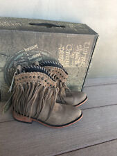NEW Womens Liberty Black Fringe Boots 11 Vegas Taupe SULB-713303 C retail $280