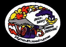 Plymouth Roadrunner Patch Beep Beep Coming Through Hot Rod Muscle Car