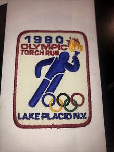 1980 Olympic Torch Run Patch