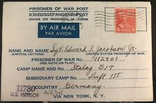 1945 Germany POW Camp Cover Stalag 17B Air  Force US Prisoner of War E Jacobson