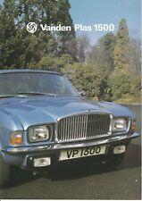 Vanden Plas 1500 Brochure - 1978 - Near Mint Condition