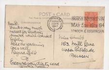 London W1 Postmark British Industries Fair 1947 Slogan 612b