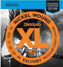 10 Sets D'Addario Exl110Bt Electric Guitar Strings 10-46 Balanced Tension Pack