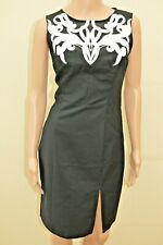 New Lipsy Black Mesh Applique Front Dress Sz UK 10 rrp £65