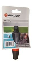Gardena Adjustable Jet Nozzle Garden Hose Fitting Mist Jet Spray Plastic Carded