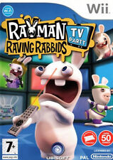 RAYMAN RAVING RABBIDS : TV PARTY - NINTENDO Wii GAME / Wii U - COMPLETE - VGC