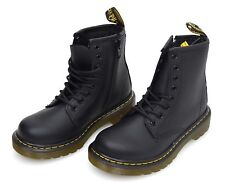 Kids's Dr. Martens Juniors Delaney Lace Boot Lace-up Ankle BOOTS in Black UK 12 Kids / EU 31