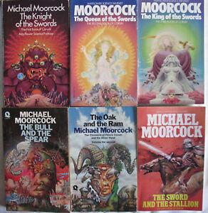MICHAEL MOORCOCK Swords of Corum Trilogy  Knight/Queen/King & 2nd Corum Triology