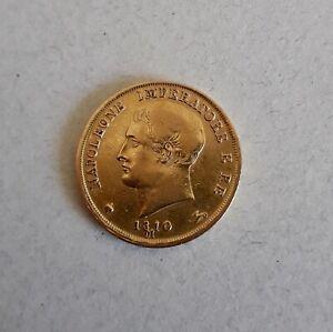 20 Lire or Napoléon Ier roi d'Italie  1810 M