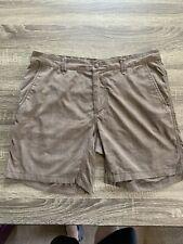 "Lululemon Shorts 36  7"" Inseam. Brown Plaid. Poly Blend"