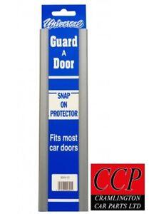 """Universal Car Door Edge Protector Strip 2 x 12"""" Door Protector Silver"""