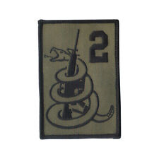 "Wax Backed 3 3/4"" X 2 1/2"" Embroidered Patch ""2nd Amendment"" ""Don't Tread on Me"