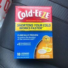 Cold-eeze Zinc Lozenges Honey Lemon Flavor Cough Cold Flu 18 Count FAST SHIP