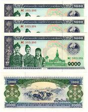 Laos 1000 Kip P#32Ab (2003) *3 Consecutive Banknotes* UNC