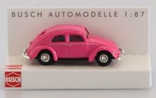BUSCH HO scale - VW BEETLE in pink - 1/87 fully assembled plastic model
