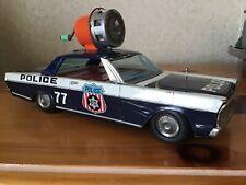 VINTAGE MODERN TOYS TIN FRICTION POLICE CAR W/ SIREN