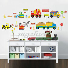 Transport Cars Truck Digger Boys Wall Stickers Decal Art Decor Home Education
