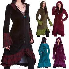 Velvet Boho Corset Back Long Coat, Gothic Jacket, Long Hippy Coat, Psy Trance