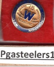 (pgasteelers1) Westinghouse Electric Corporation 15 Years service  pin