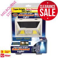 Solar SunBlast Powered Light Beam Motion Sensor Atomic LED Super Bright